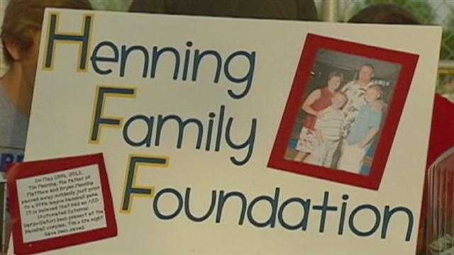 A benefit baseball game honors the memory of a father who died while watching his son play -- by raising money to buy heart defibrillators for athletic complexes across the Kansas City area.