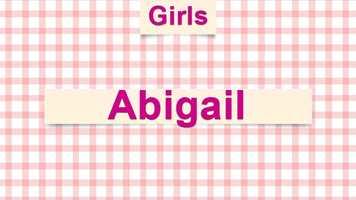 7) Abigail