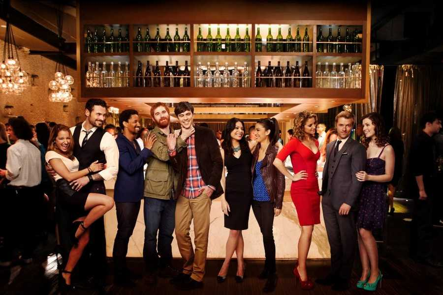 """""""Mixology"""" will air during the 2013-2014 season at a date and time not yet determined.One bar. One night. Ten single people. Welcome to Union, a high-end bar in Manhattan's trendy meat-packing district. Recently dumped by his fiancée, Tom (Blake Lee) hasn't been out on the town in a decade. His best friends, handsome, confident Cal (Craig Frank) and fast-talking Bruce (Andrew Santino), are throwing Tom back into the dating pool whether he likes it or not. Tom's first encounter is with Maya (Ginger Gonzaga), an attorney who's as beautiful as she is brutal&#x3B; before long, Tom is in tears. After that, it only gets worse. Rounding out Union's chic crowd is Maya's engaged-for-now friend, Liv (Kate Simses)&#x3B; aggressive single mom Jessica (Alexis Carra)&#x3B; her younger, naive sister, Janey (Sarah Bolger)&#x3B; bubbly cocktail waitress Kacey (Vanessa Lengies)&#x3B; dark, mysterious bartender Dominic (Adan Canto)&#x3B; and failed internet entrepreneur Ron (Adam Campbell), who's having the worst night of his life.""""Mixology"""" stars Blake Lee (""""Parks and Recreation"""") as Tom, Andrew Santino (""""Punk'd"""") as Bruce, Kate Simses (""""What's Your Number"""") as Liv, Adam Campbell (""""Epic Movie"""") as Ron, Craig Frank (""""8.13"""") as Cal, Vanessa Lengies (""""Glee"""") as Kacey, Alexis Carra (""""Incredible Girl"""") as Jessica, Sarah Bolger (""""Once Upon a Time"""") as Janey, Ginger Gonzaga (""""Legit"""") as Maya and Adan Canto (""""The Following"""") as Dominic."""