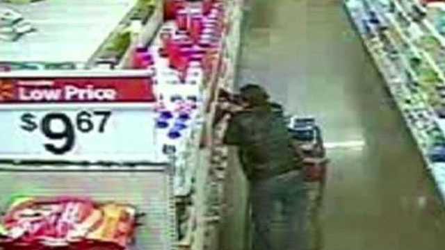 Image shoplifting surveillance image - Walmart