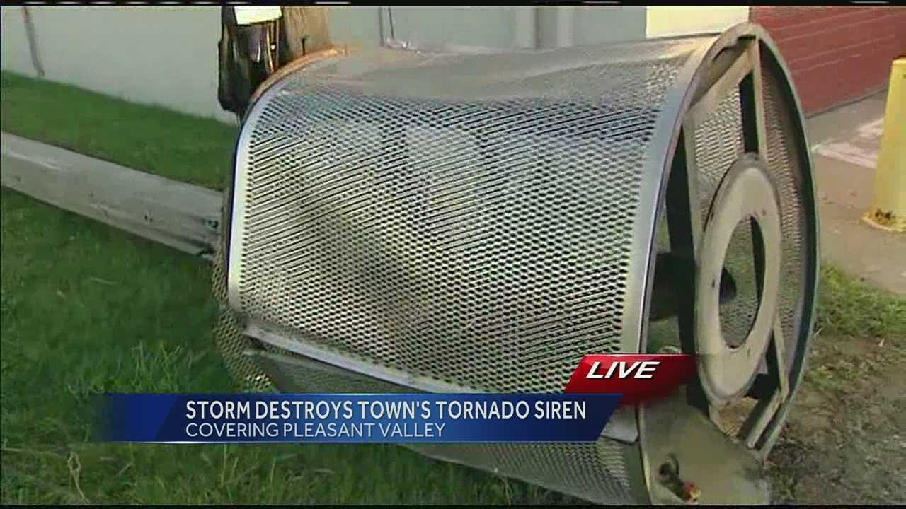 Storm knocks out Pleasant Valley's tornado siren