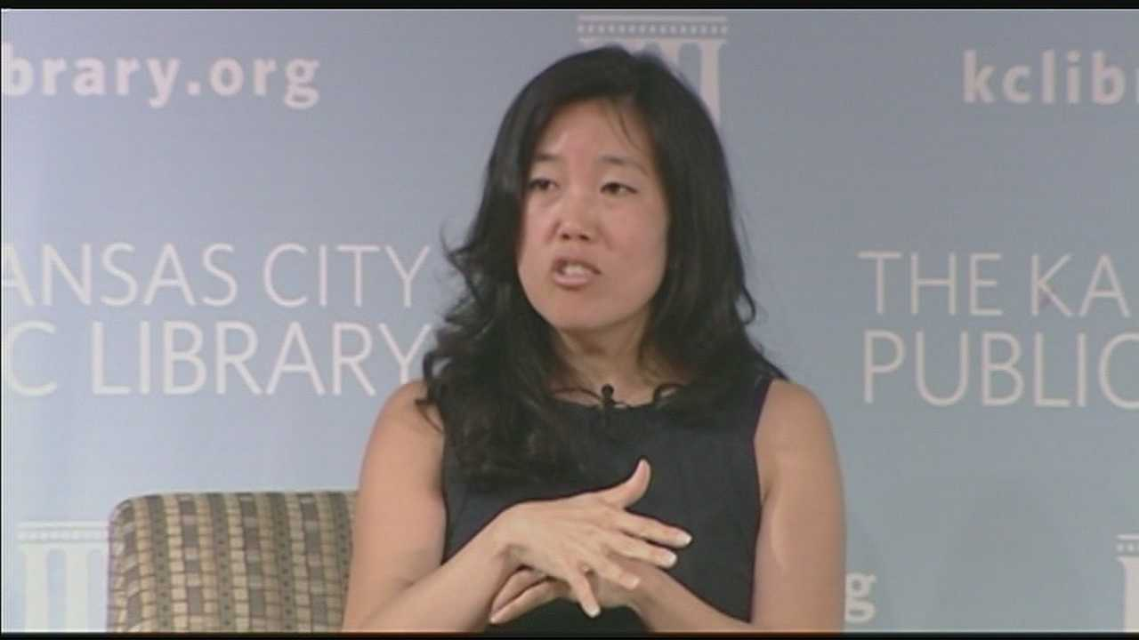 Education reformer and former Washington D.C. school chancellor Michelle Rhee talked about how to improve the quality of public schools and drew a huge crowd at Kansas City's Plaza Library.