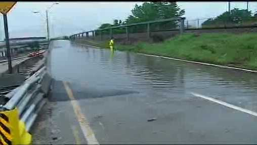 Broadway Extension flooding