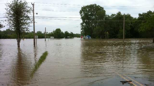 Flooding in Agency, Mo.