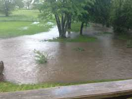 Flooding in Greenwood from Colleen Sliffe