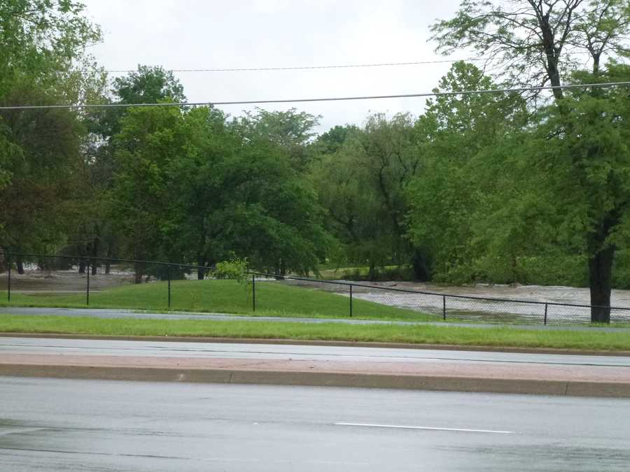 Flooding near Deer Creek Golf Course in OP from Shelly White