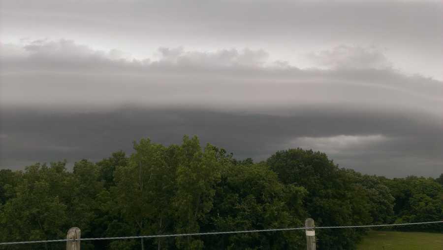 Storm clouds at Lake Quivira