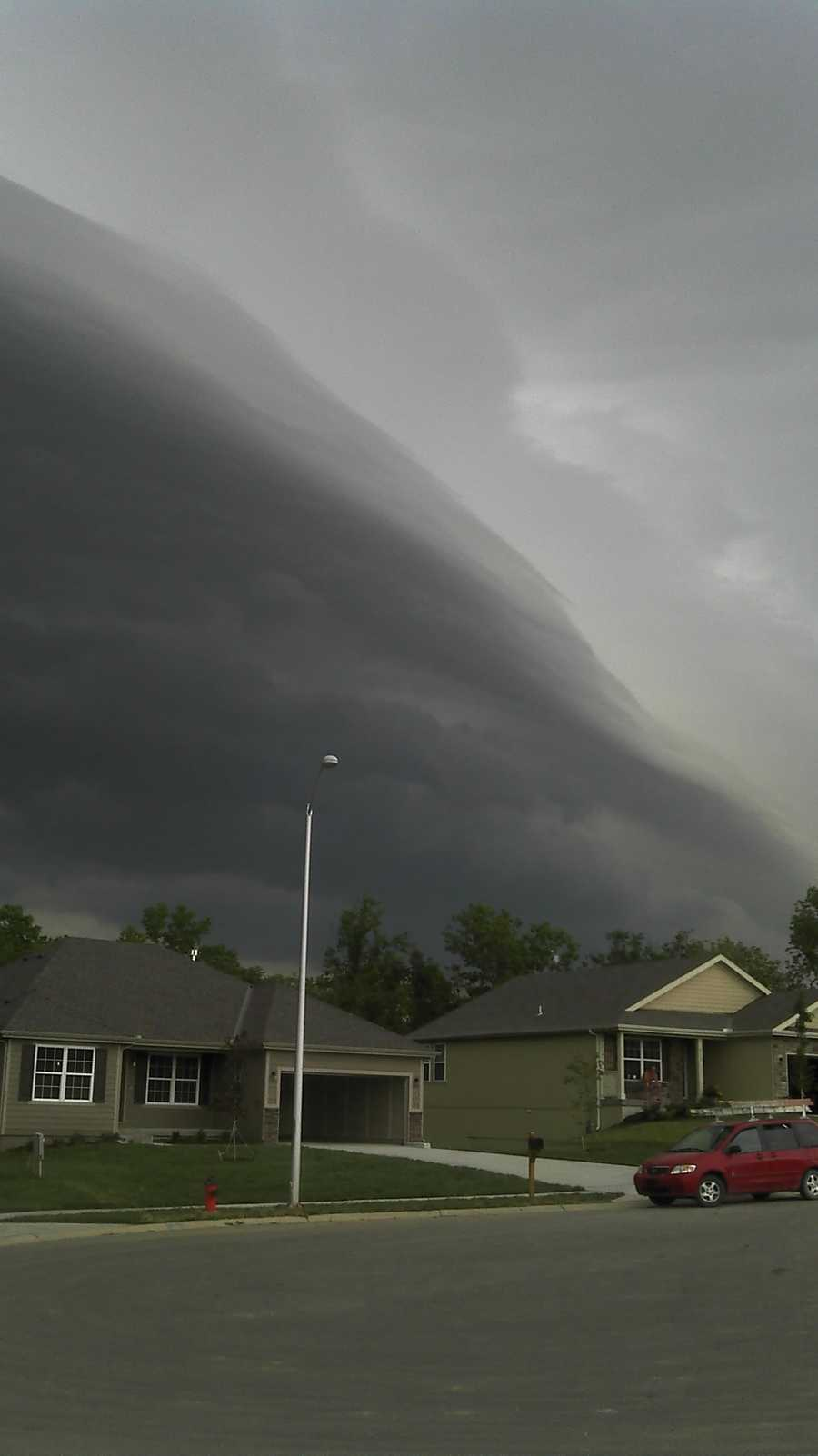 Storm clouds in Liberty, Mo.
