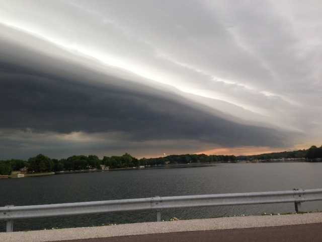Storm clouds at Weatherby Lake
