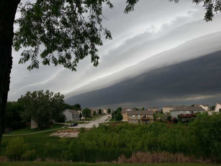 Storm clouds at 152 and 435