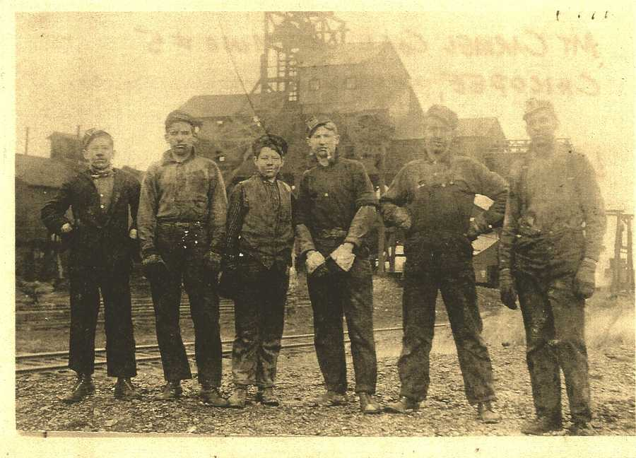 """FRONTENAC-PITTSBURG, Kan. - This viewer opens up the family album and shares a nostalgic perspective of a developing United States:""""Grandpa (first on left) started working in the coal mines in the Frontenac-Pittsburg,Kansas area at the age of 12. German and other immigrantsdid not survive the dark unsafe holes of the mines. He worked for 33 years in hope his children and grandchildren would have a better life. He would proud to know his grandchildren are college educated. I honor him and all who worked so hard for future generations, and continue to do so."""""""
