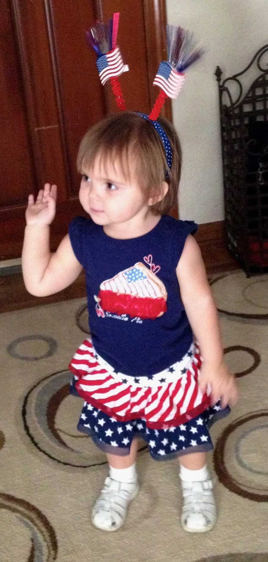 KANSAS CITY, Mo. - Another Cutie Pie enters our pageant with a salute to the American flag.