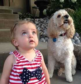 PARKVILLE, Mo. - Hadley Grace and her best buddy, Sophie both watch the sky!