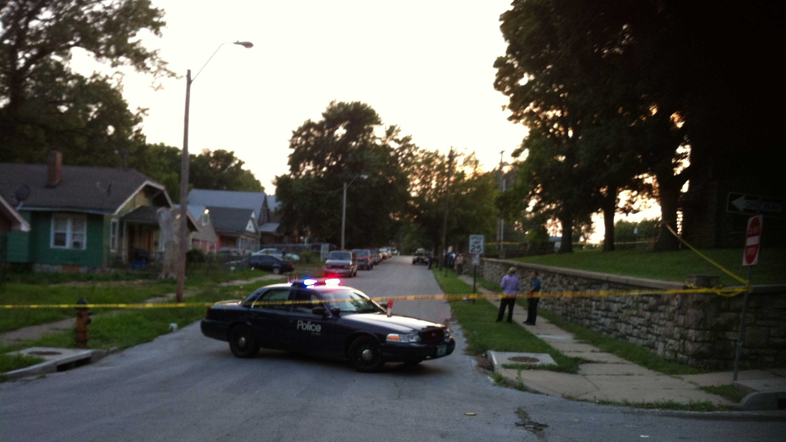 Kansas City homicide crime scene