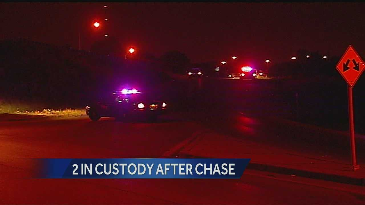 Independence police chase