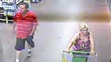 Overland Park police asked the public to help identify a man and a woman they want to question in connection with a car burglary and credit card thefts.