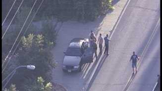 Police pursuit, stolen pickup truck
