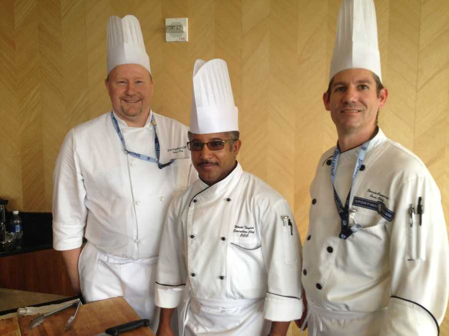 From left to right: Sous Chef Steve Copeland, Executive Chef Wade Taylor, Sous Chef Darrin Conarroe