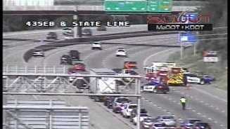 I-435, State Line wreck