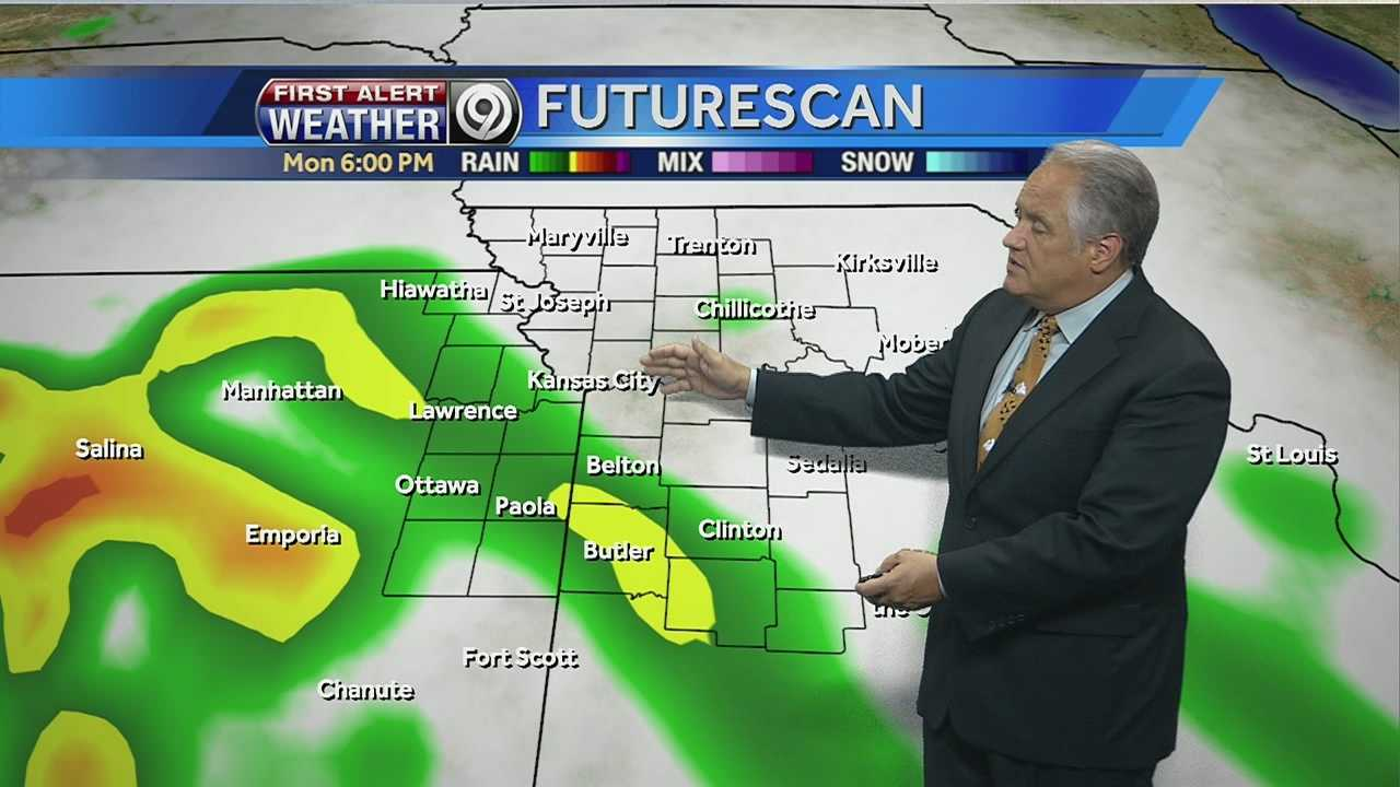 KMBC's Joel Nichols tells us how much rain we're expected to see from Monday morning to Tuesday afternoon.