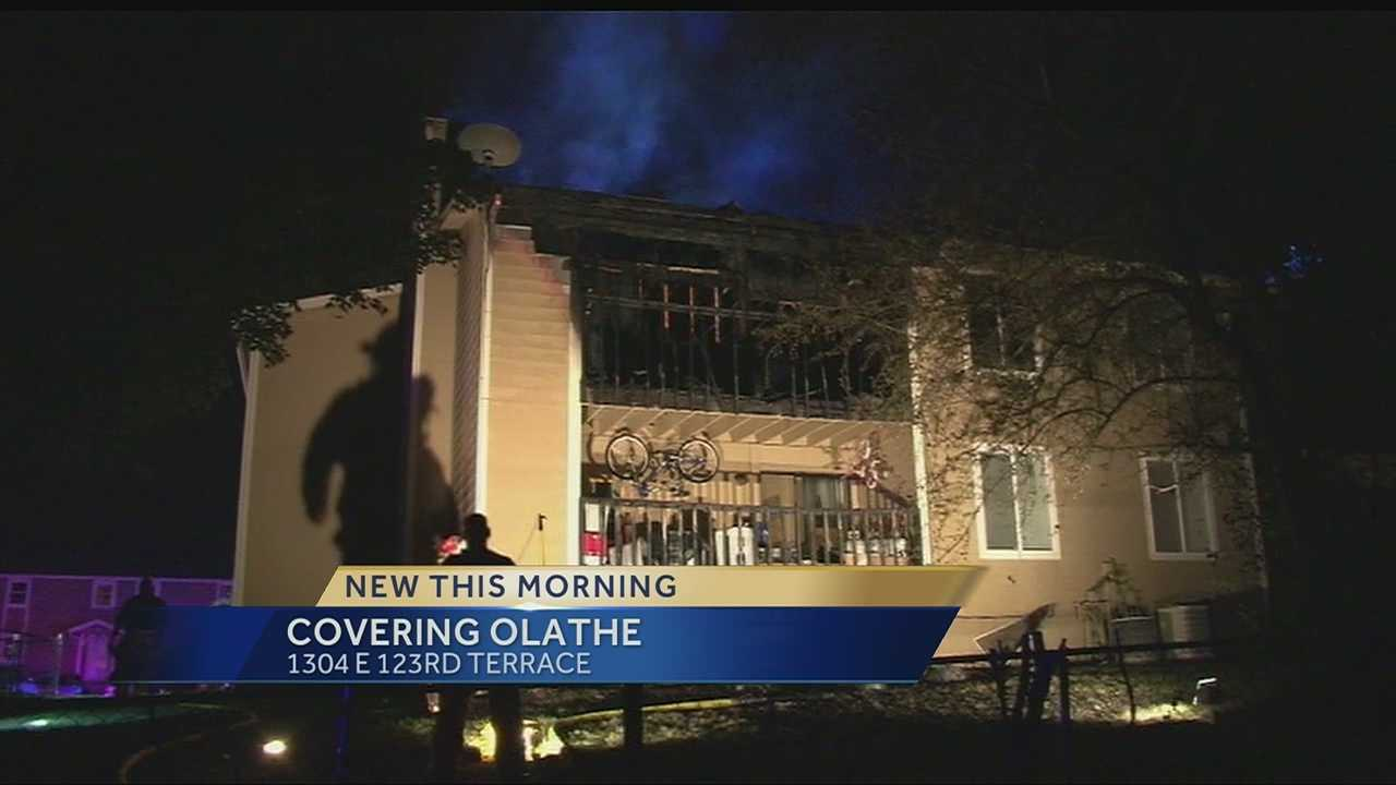 An apartment building fire in Olathe has displaced four families.