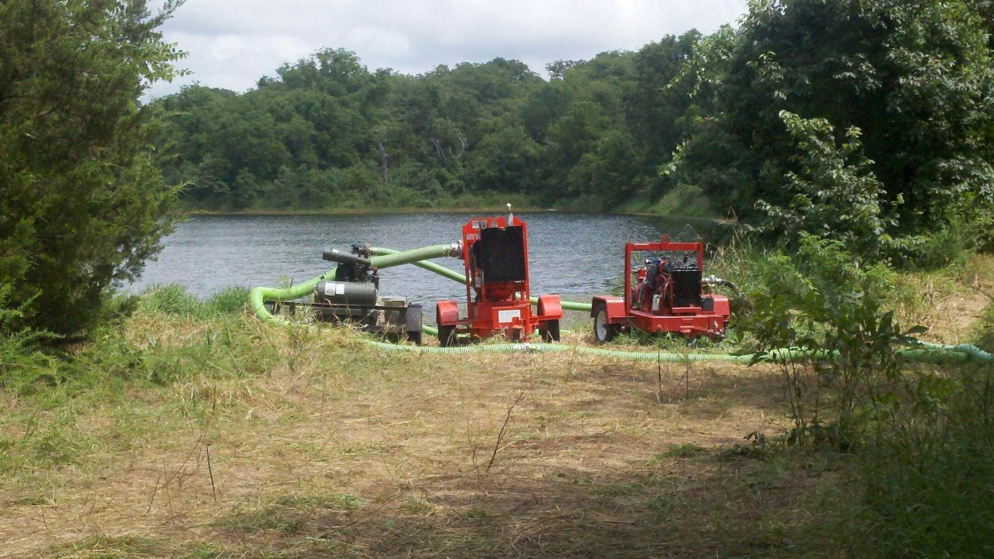 Image Warsaw pond draining