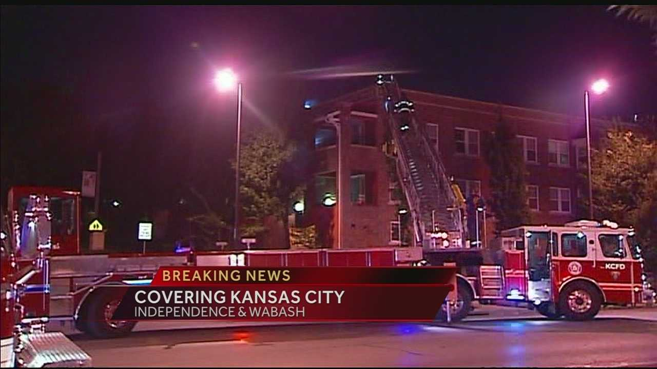 Apartment fire, Independence, Wabash