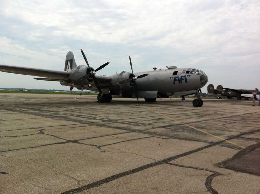The Commemorative Air Force's annual air expo is at the New Century Airport in Gardner, Kan., through Sunday.