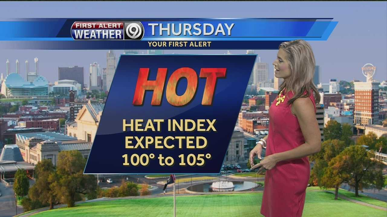 If you're heading to the Kansas City Chiefs game late this afternoon, make sure you bring lots of water and light clothing as it's going to feel like it's over 100 degrees.
