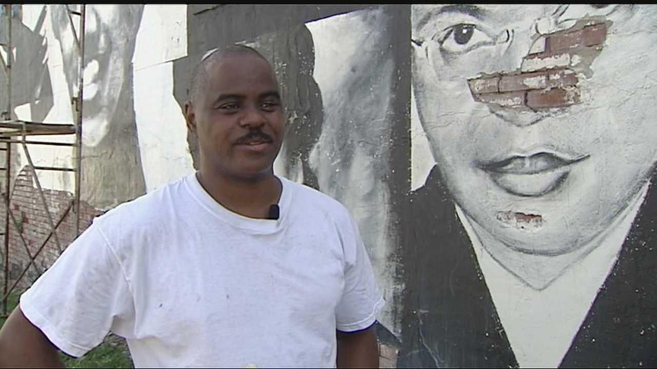 Image KC artist restores civil rights mural