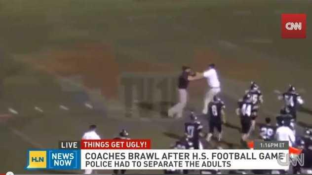 Brawl at high school football game in Alabama