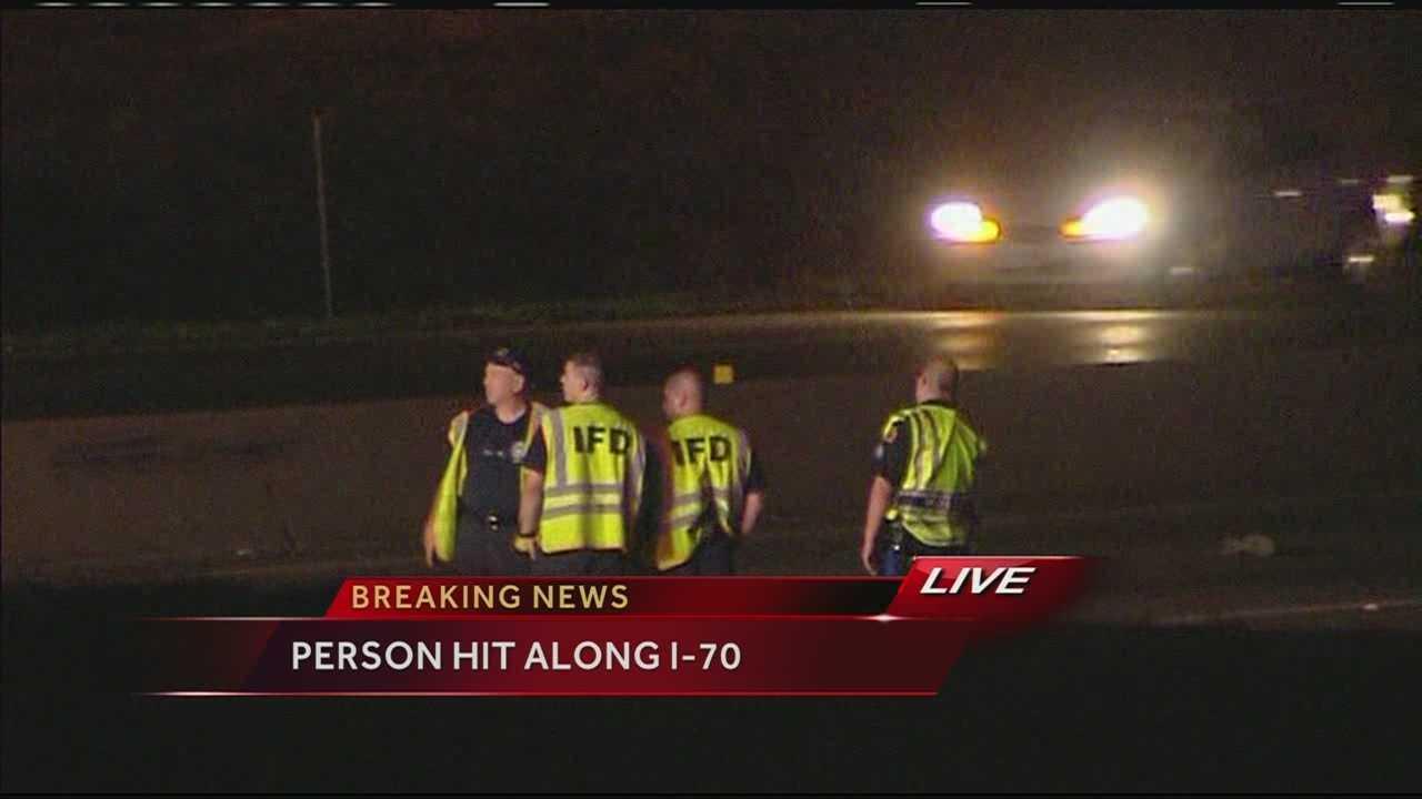 Pedestrian hit crossing I-70