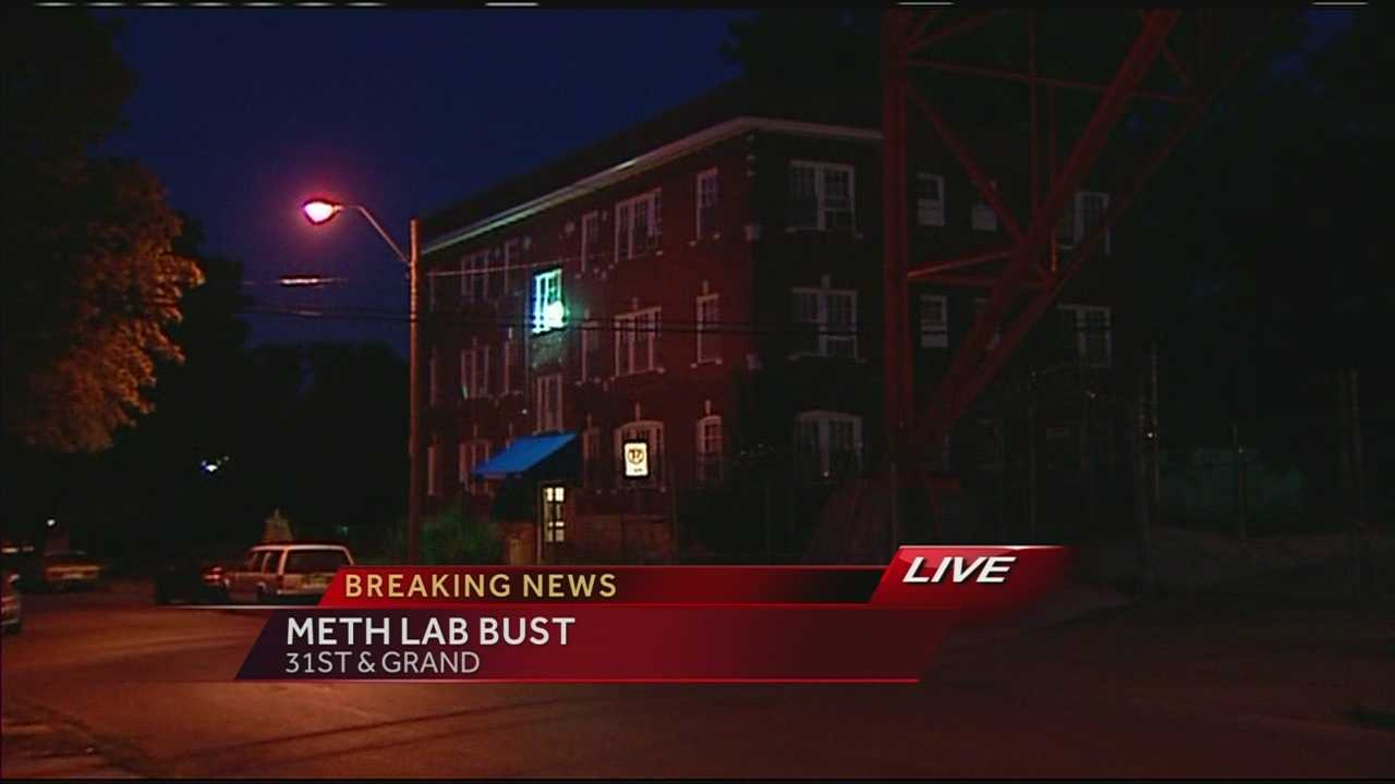 Body, meth lab found in 3136 Grand apartment building.