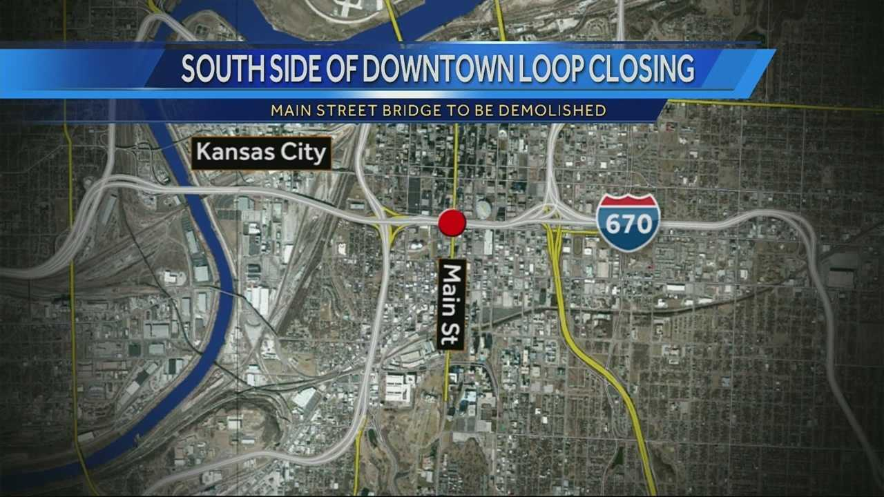 South side of downtown KC loop to close tonight