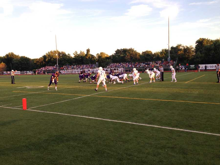 Rockhurst Hawklets defense held up in the early going, limiting two red zone possessions to 3 points early.
