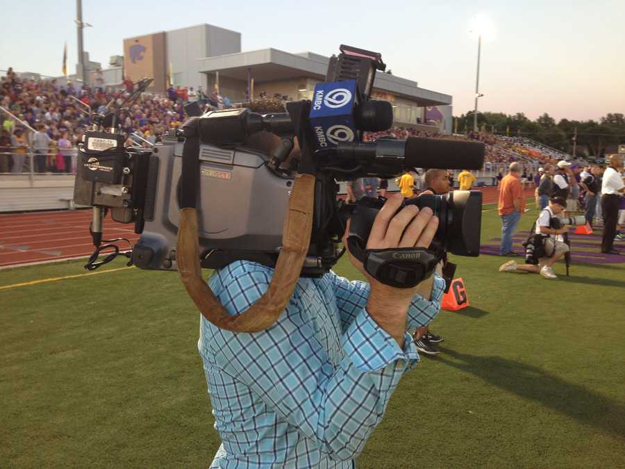 Len Dawson and the KMBC 9 News crews were covering every angle.