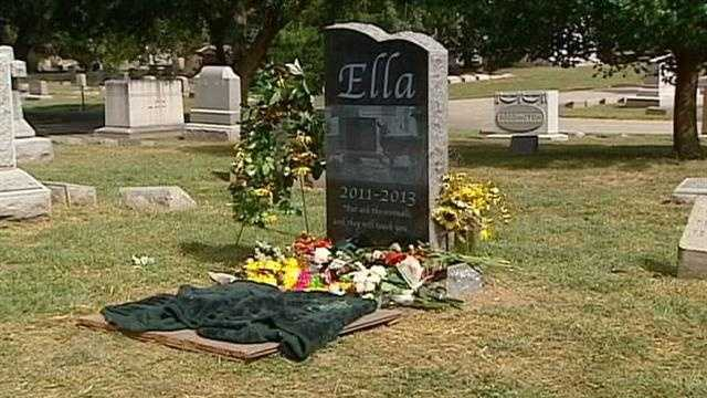 Ella the deer memorial, tombstone