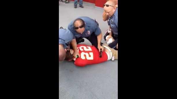 Police use stun gun to subdue Chiefs fan at Arrowhead Stadium