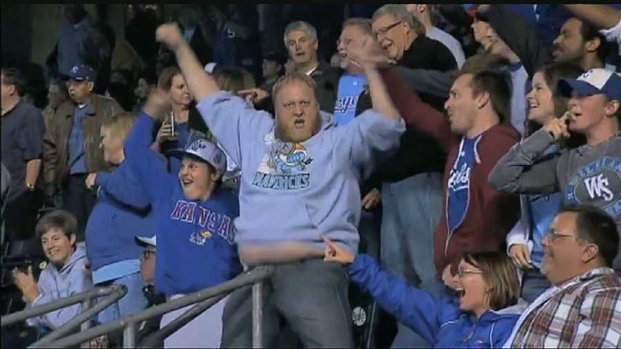 Kansas City Royals fan Jimmy Faseler has done his special 'thunder' dance during the past few games at Kauffman Stadium, and it's become the talk of the Internet.