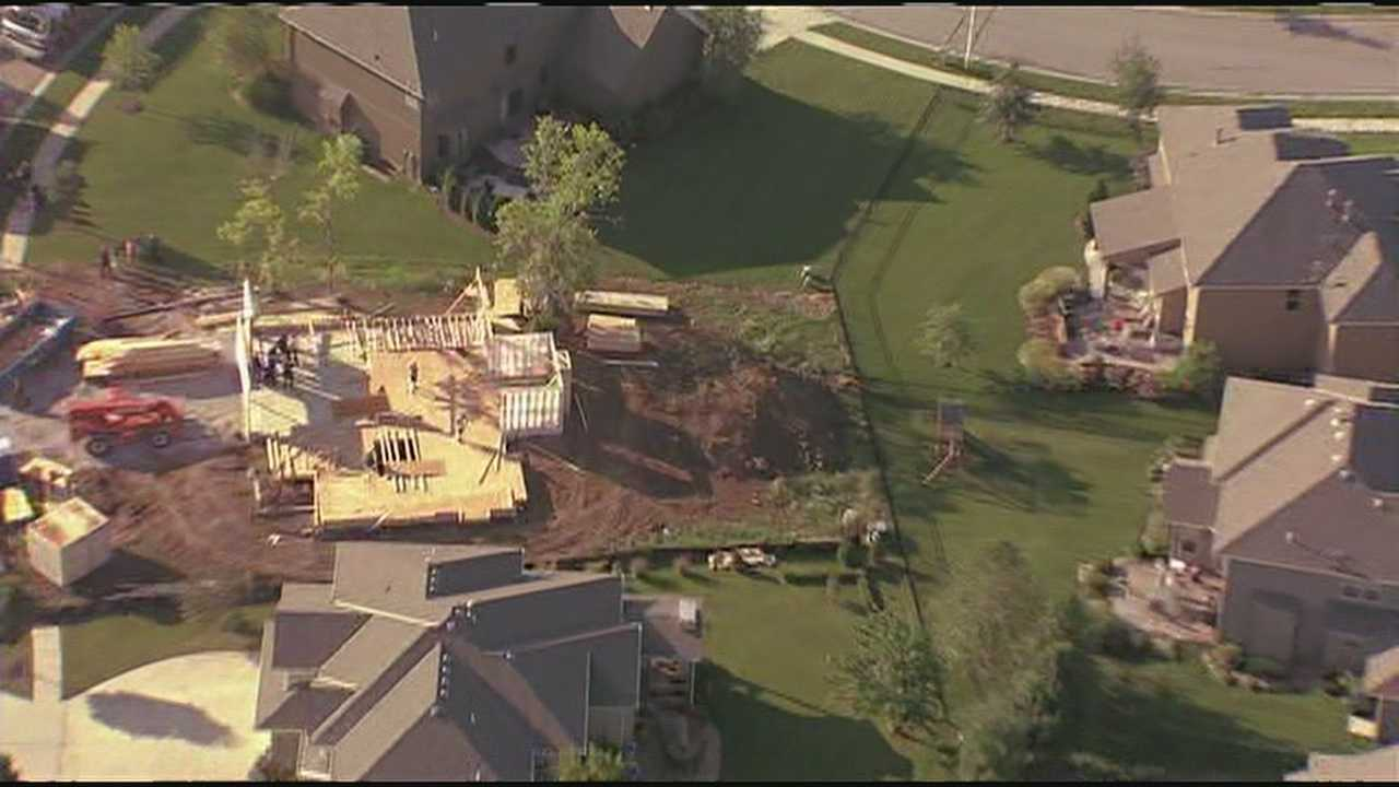 Worker injured in fall at home under construction