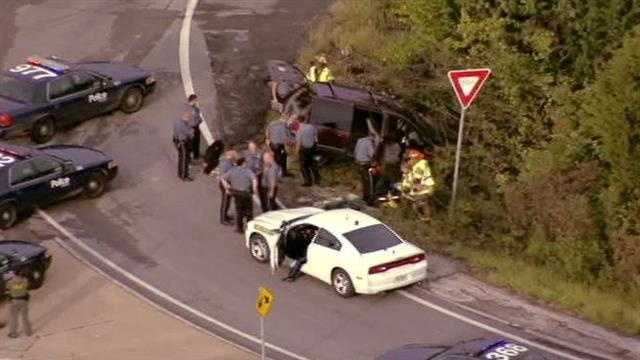 Police pursuit ends, Colbern, 350 Highway