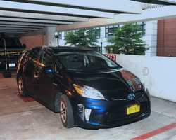 Aaron Alexis' rental car, a blue Toyota Prius with New York plates, was located in Washington Navy Yard Parking Garage #28. (FBI)
