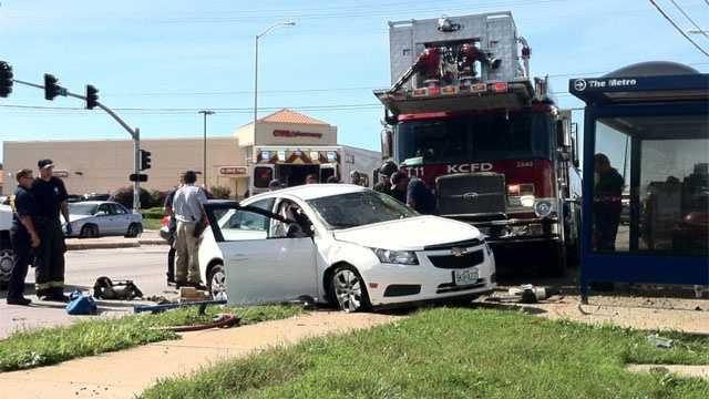 Image Fire truck hits car