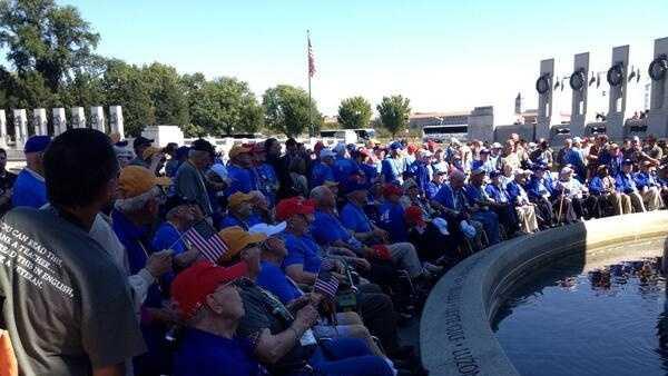 Honor Flight veterans in Washington, D.C.