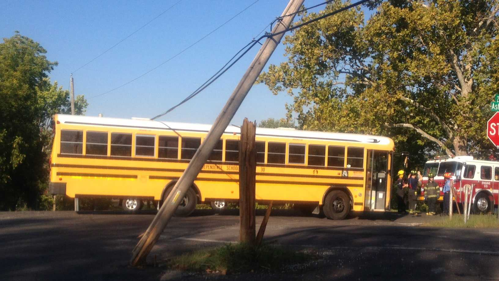 Blue Summit school bus accident, power lines