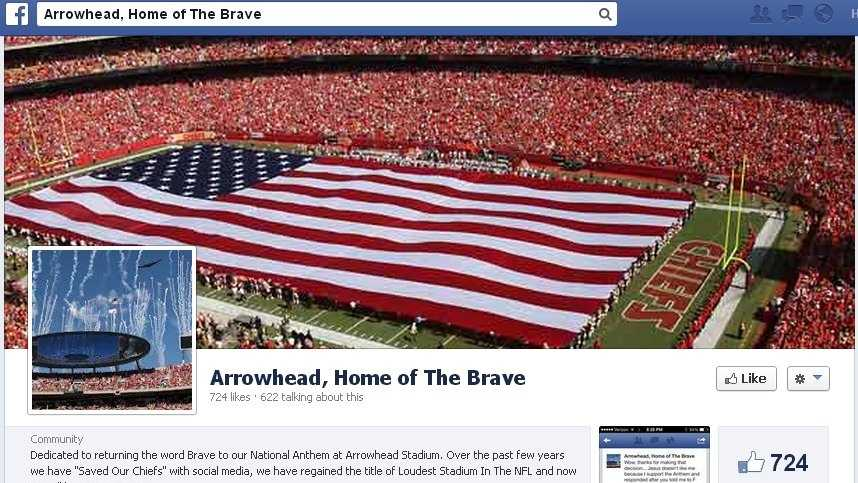 Arrowhead, Home of the Brave Facebook page