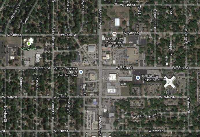 8) 75th and Metcalf: 27 crashes
