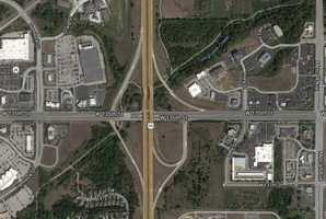 3) 135th and 69 Highway: 49 crashes