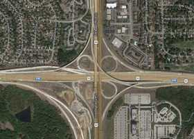 9) I-435 and 69 Highway: 27 crashes