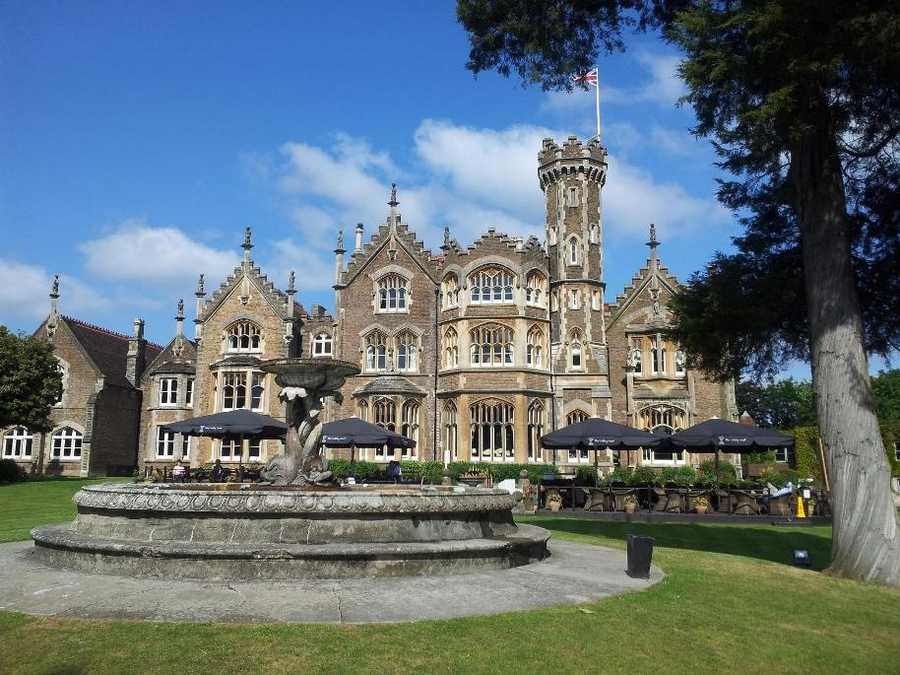 """The Oakley Court – Windsor, England -- Featured in a handful of horror films, this Victorian Gothic mansion is best remembered as The """"Frankenstein Place"""" in """"The Rocky Horror Picture Show."""" Now a luxury hotel, fans of the cult classic experience the """"Time Warp"""" in one of 118 elegantly appointed rooms."""